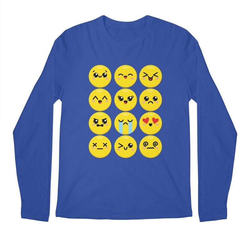 Kawaii Emojis Men's Regular Longsleeve T-Shirt by Detour Shirt's Artist Shop
