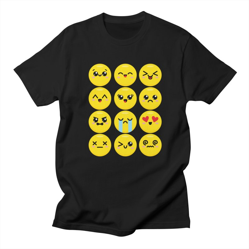 Kawaii Emojis Women's Regular Unisex T-Shirt by Detour Shirt's Artist Shop