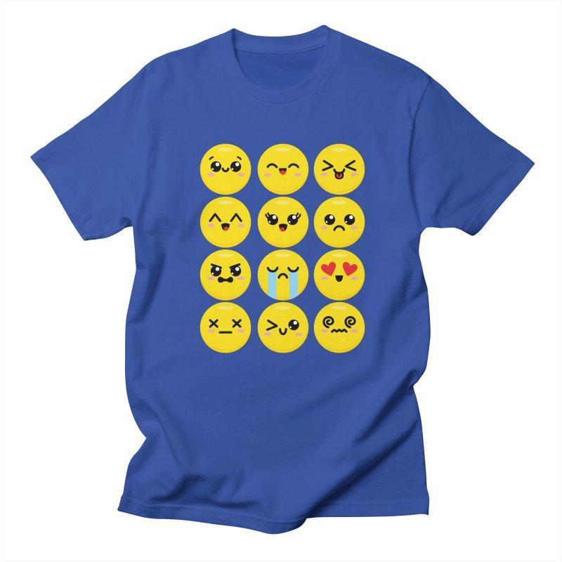 Kawaii Emojis Women's Regular Unisex T-Shirt by Detour Shirt's Artist Shop