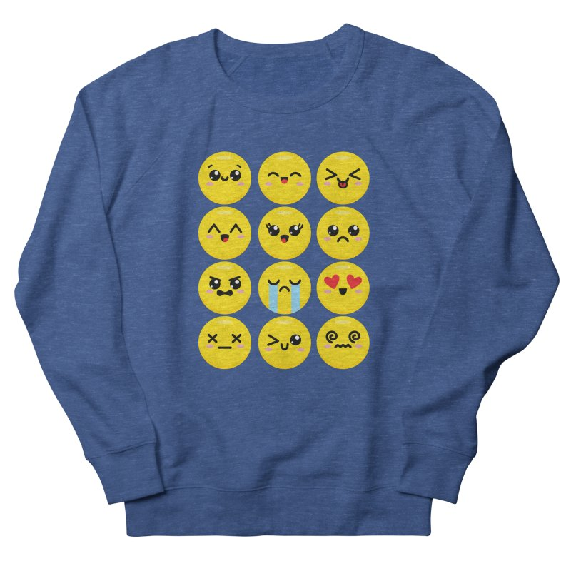 Kawaii Emojis Women's French Terry Sweatshirt by Detour Shirt's Artist Shop