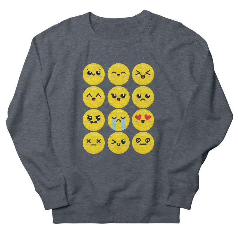 Kawaii Emojis Men's French Terry Sweatshirt by Detour Shirt's Artist Shop