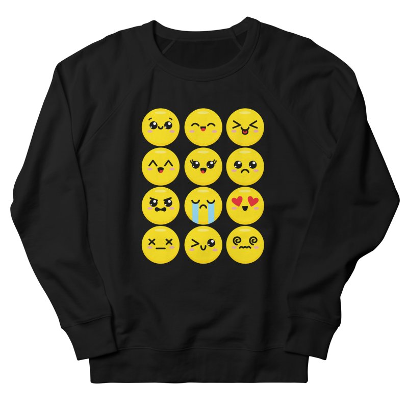 Kawaii Emojis Men's French Terry Sweatshirt by Detour Shirt's Artist Shop