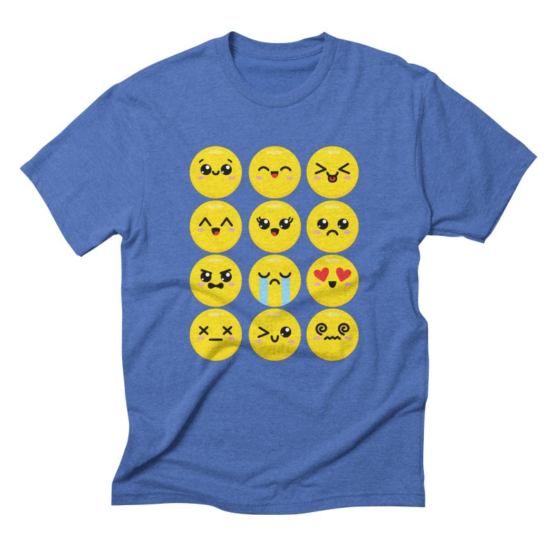 Kawaii Emojis Men's Triblend T-Shirt by Detour Shirt's Artist Shop