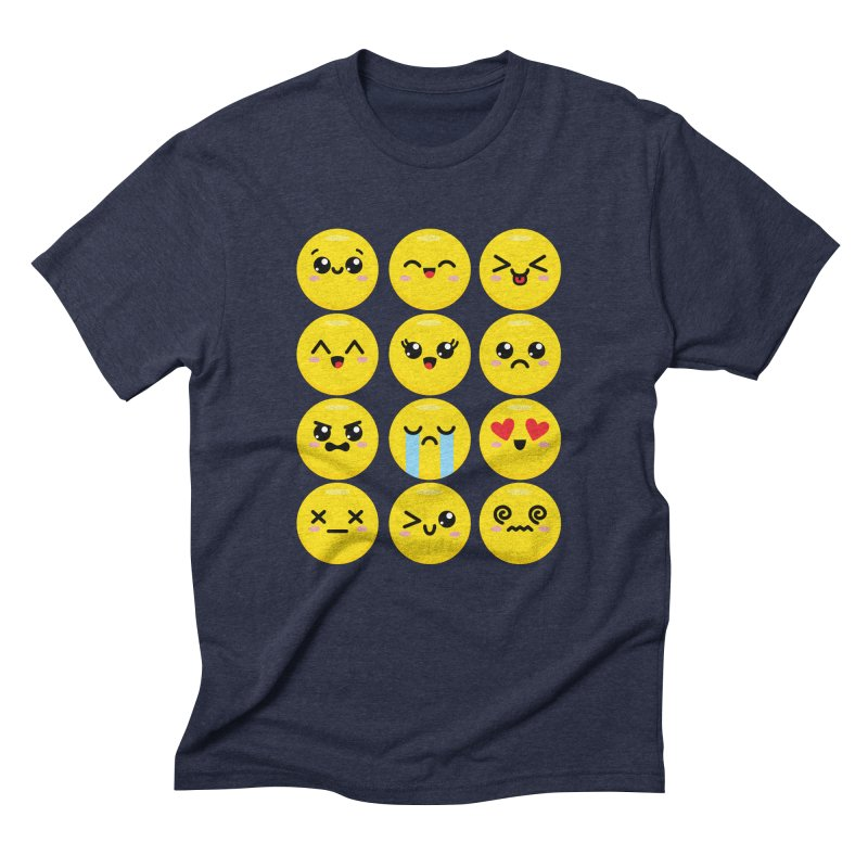 Kawaii Emojis Men's Triblend T-Shirt by Detour Shirt's Artist Shop