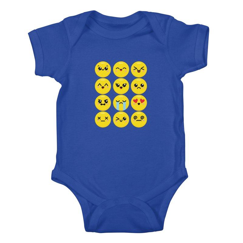 Kawaii Emojis Kids Baby Bodysuit by Detour Shirt's Artist Shop