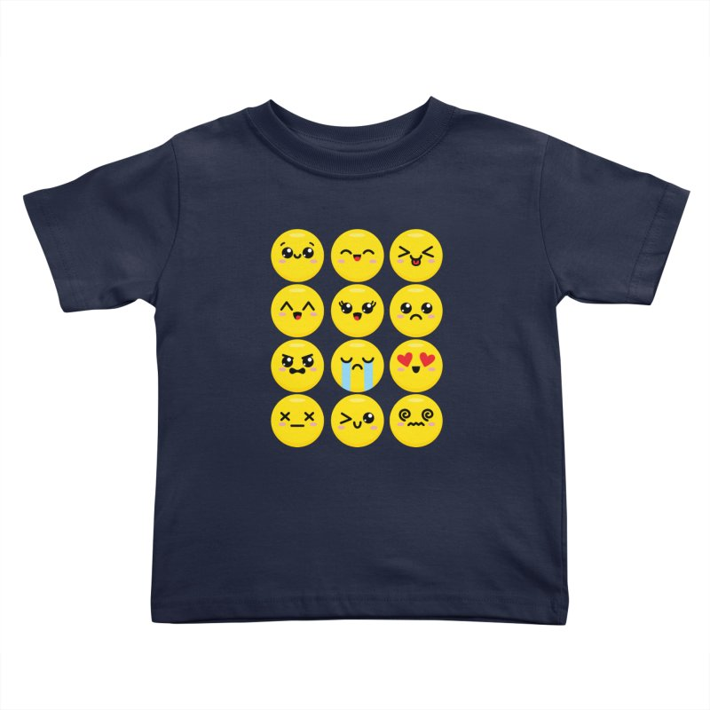 Kawaii Emojis Kids Toddler T-Shirt by Detour Shirt's Artist Shop