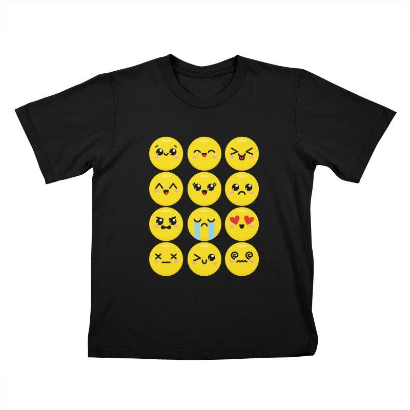 Kawaii Emojis Kids T-Shirt by Detour Shirt's Artist Shop