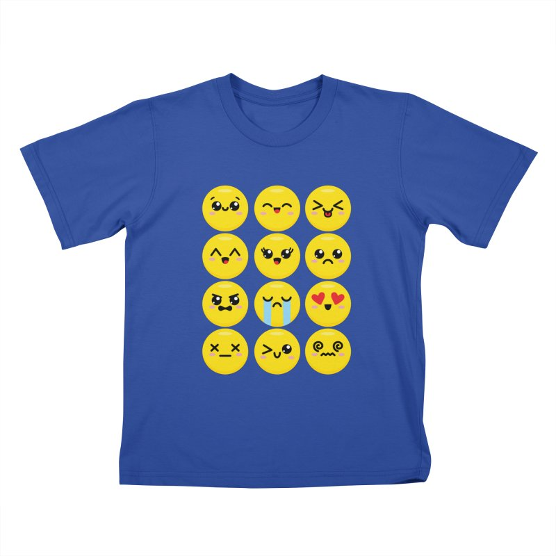 Kawaii Emojis Kids T-Shirt by Detour Shirt's Artist Shop