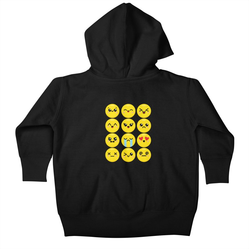 Kawaii Emojis Kids Baby Zip-Up Hoody by Detour Shirt's Artist Shop