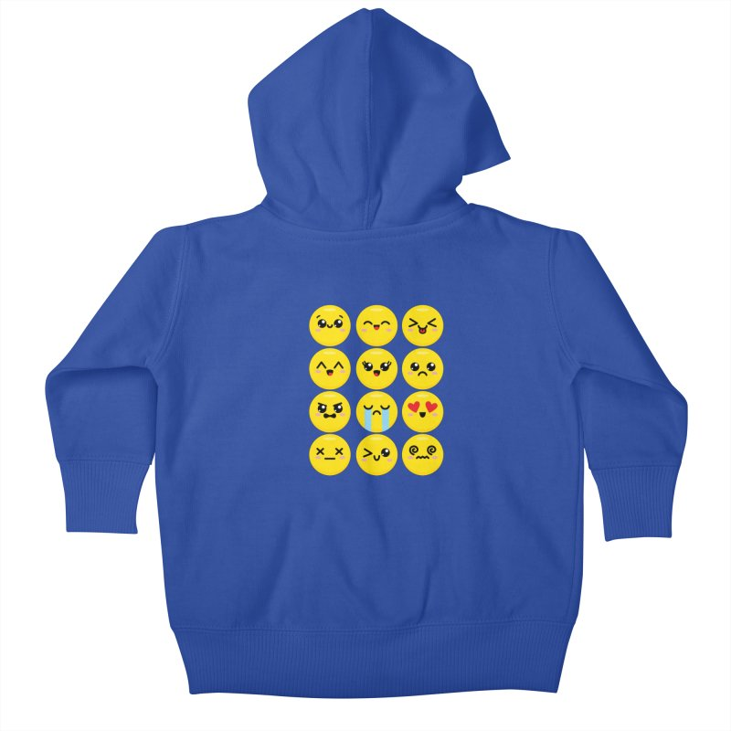 Kawaii Emojis Kids Baby Zip-Up Hoody by Detour Shirt's Artist Shop