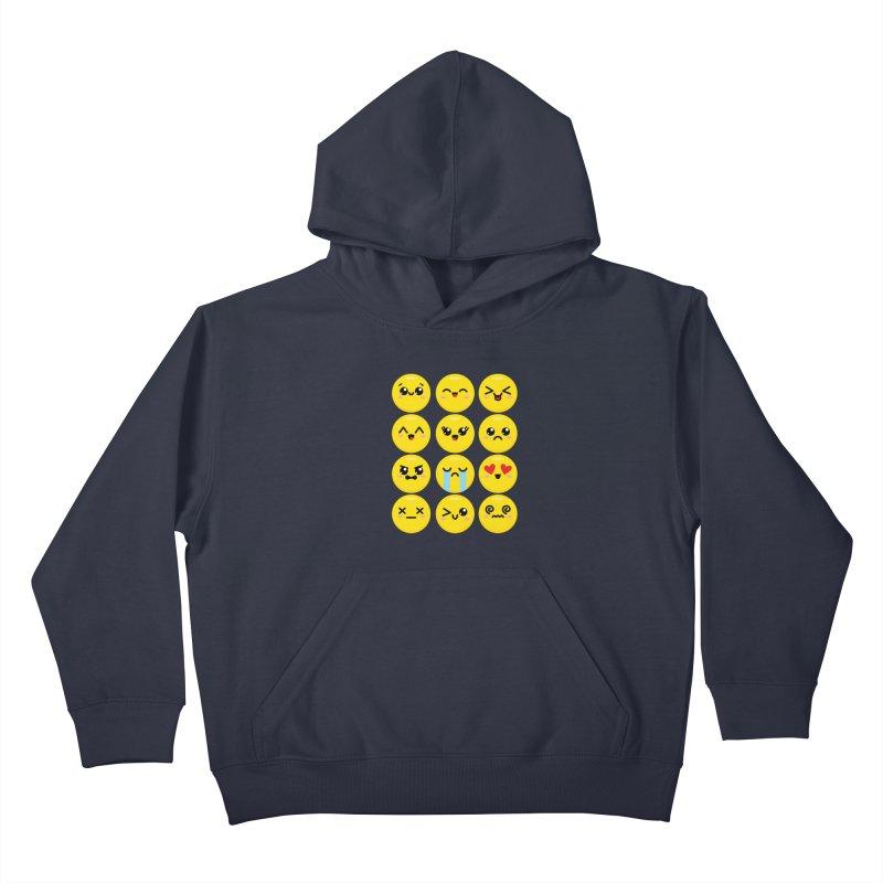 Kawaii Emojis Kids Pullover Hoody by Detour Shirt's Artist Shop
