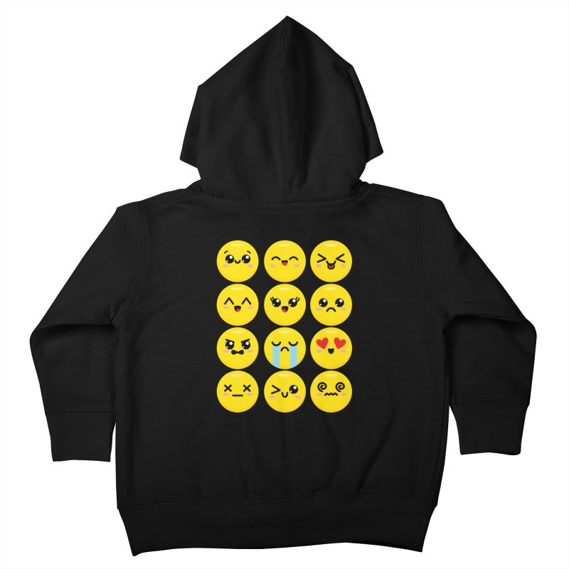 Kawaii Emojis Kids Toddler Zip-Up Hoody by Detour Shirt's Artist Shop