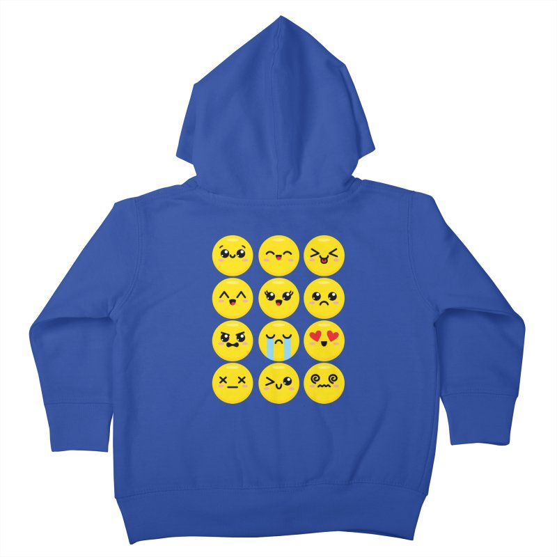 Kawaii Emojis Kids Toddler Zip-Up Hoody by Detour Shirt's Artist Shop