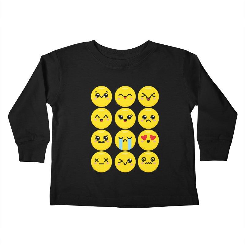 Kawaii Emojis Kids Toddler Longsleeve T-Shirt by Detour Shirt's Artist Shop