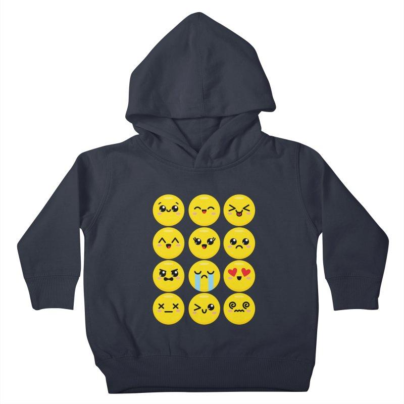 Kawaii Emojis Kids Toddler Pullover Hoody by Detour Shirt's Artist Shop