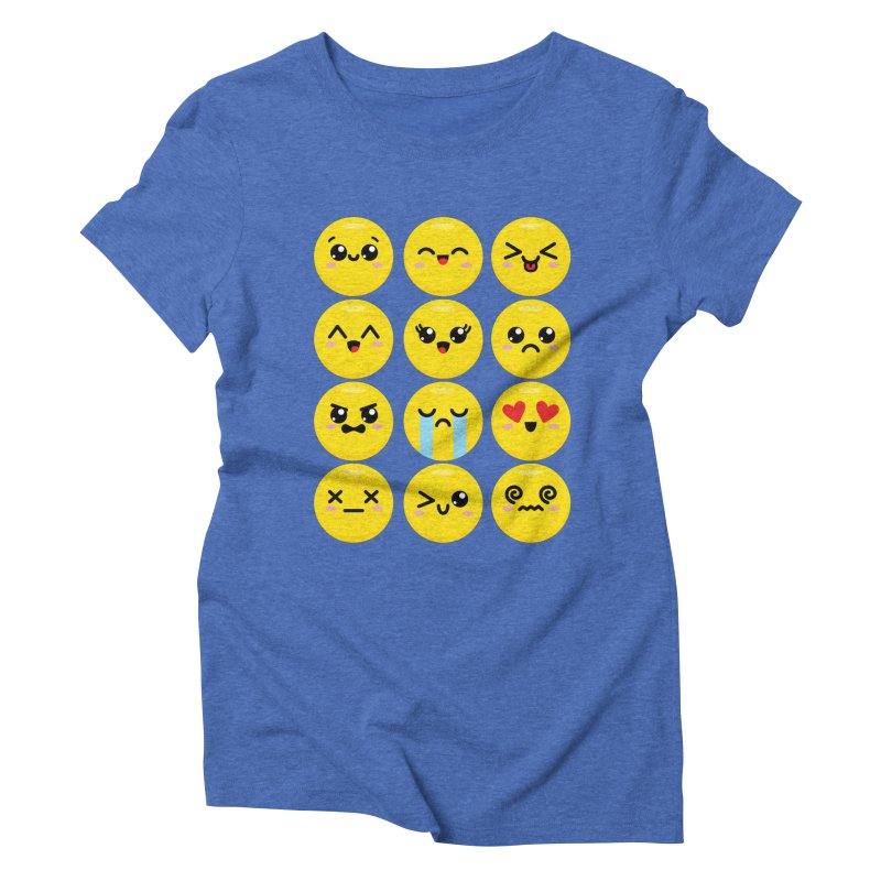 Kawaii Emojis Women's Triblend T-Shirt by Detour Shirt's Artist Shop