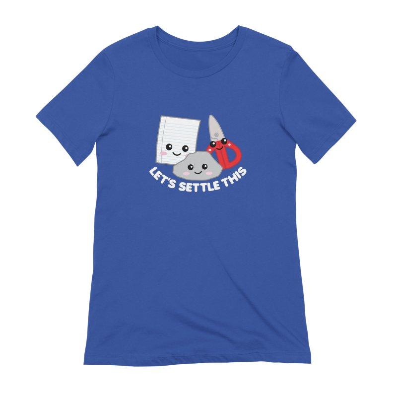 Let's Settle This Women's Extra Soft T-Shirt by Detour Shirt's Artist Shop