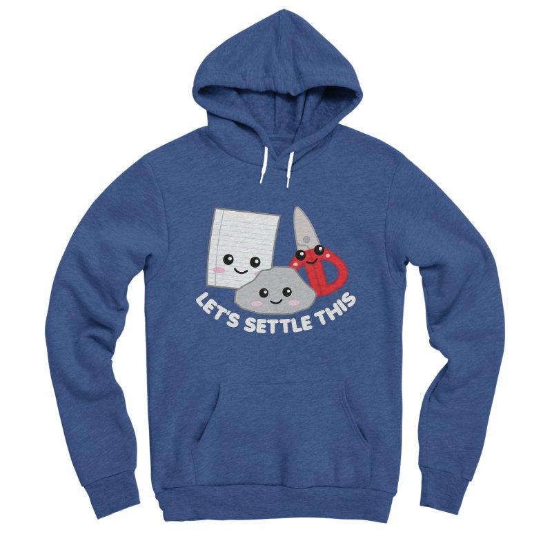 Let's Settle This Men's Sponge Fleece Pullover Hoody by Detour Shirt's Artist Shop