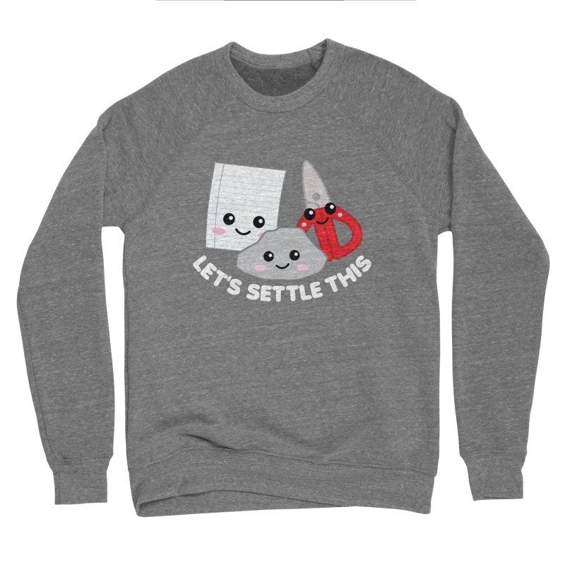 Let's Settle This Men's Sponge Fleece Sweatshirt by Detour Shirt's Artist Shop