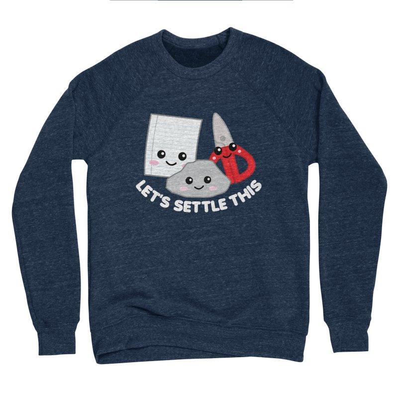 Let's Settle This Men's Sponge Fleece Sweatshirt by Detour Shirt's Artist Shop