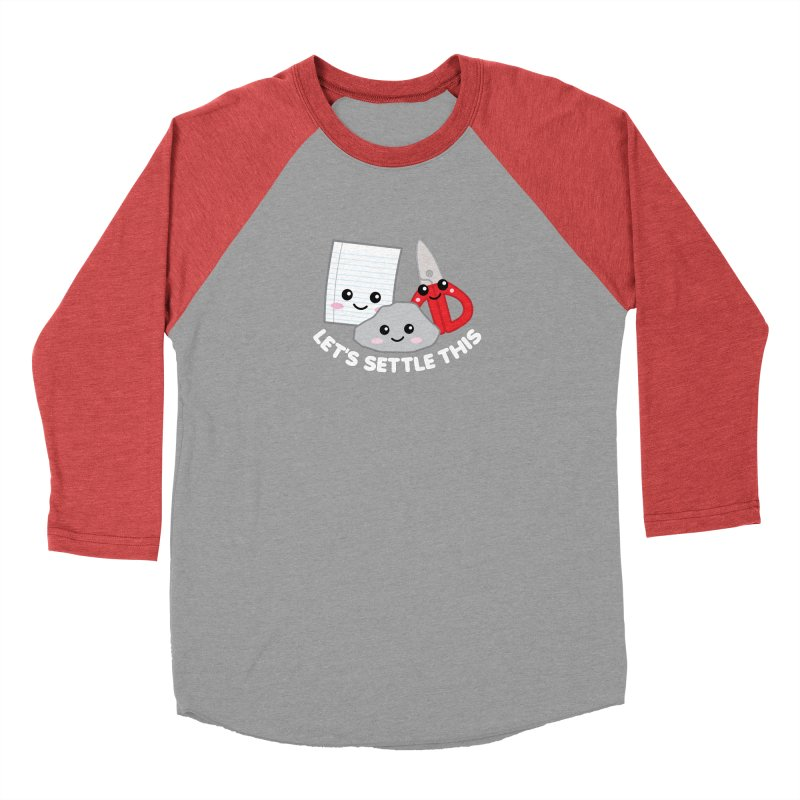 Let's Settle This Women's Baseball Triblend Longsleeve T-Shirt by Detour Shirt's Artist Shop
