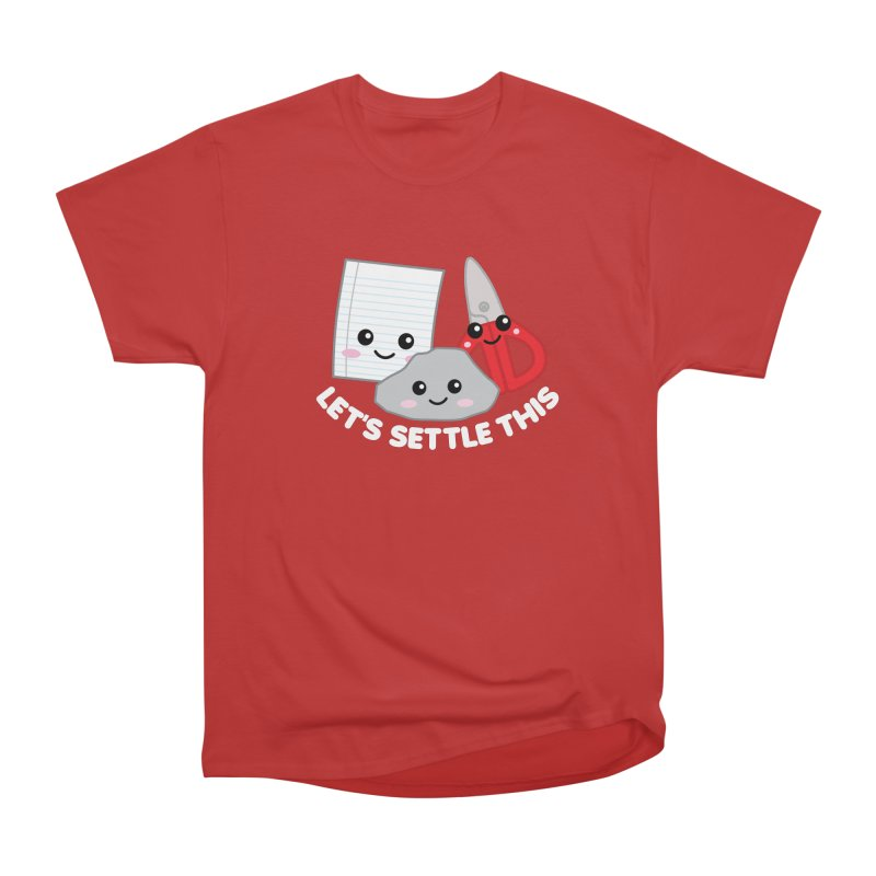 Let's Settle This Women's Heavyweight Unisex T-Shirt by Detour Shirt's Artist Shop