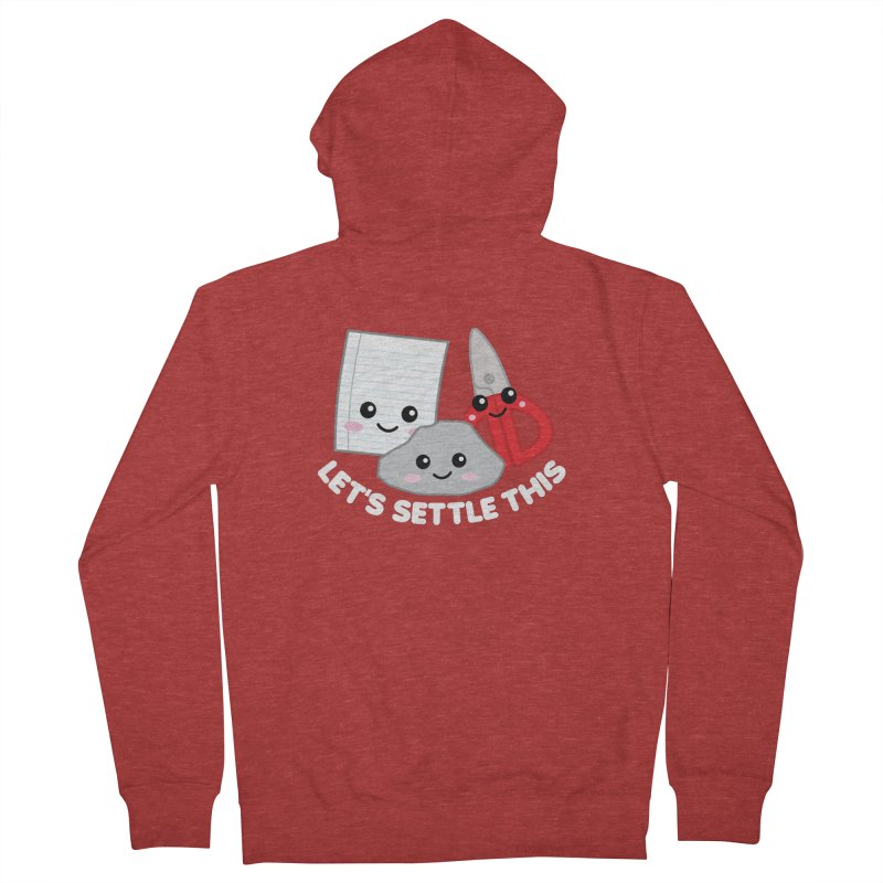 Let's Settle This Women's French Terry Zip-Up Hoody by Detour Shirt's Artist Shop