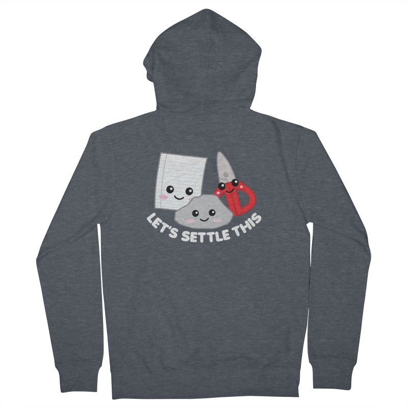 Let's Settle This Men's French Terry Zip-Up Hoody by Detour Shirt's Artist Shop