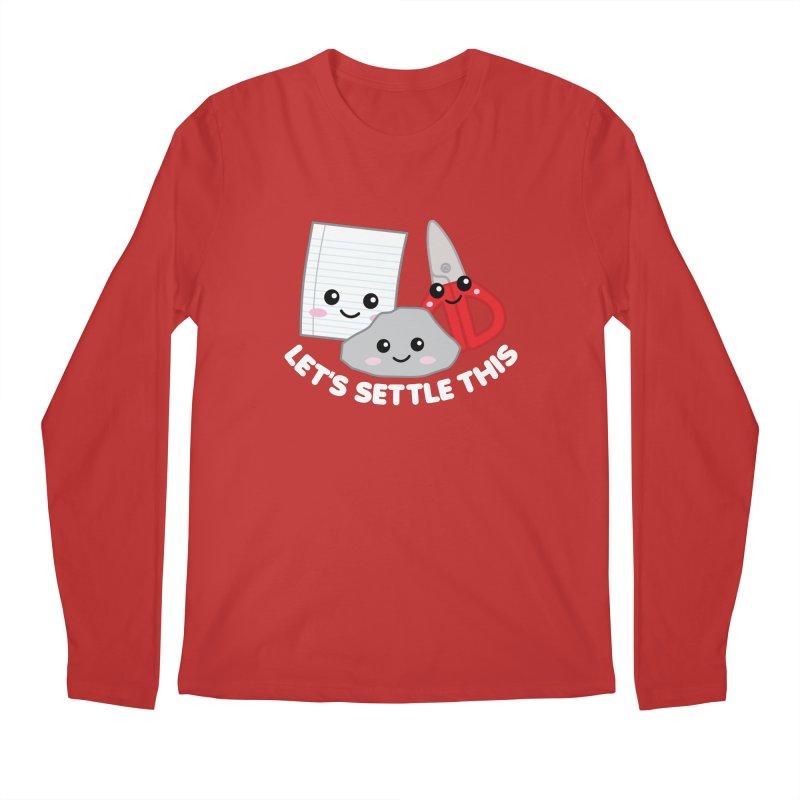 Let's Settle This Men's Regular Longsleeve T-Shirt by Detour Shirt's Artist Shop