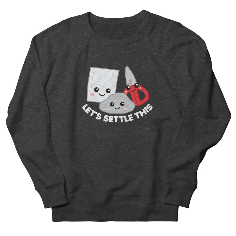 Let's Settle This Men's French Terry Sweatshirt by Detour Shirt's Artist Shop