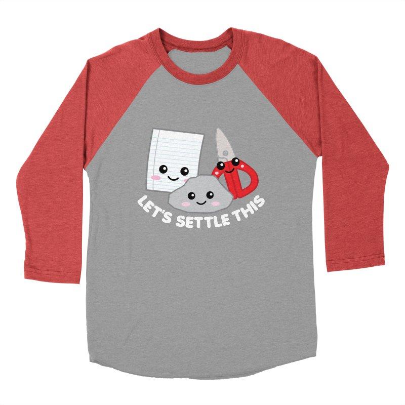 Let's Settle This Women's Baseball Triblend Longsleeve T-Shirt by Detour Shirt's Artist Shop