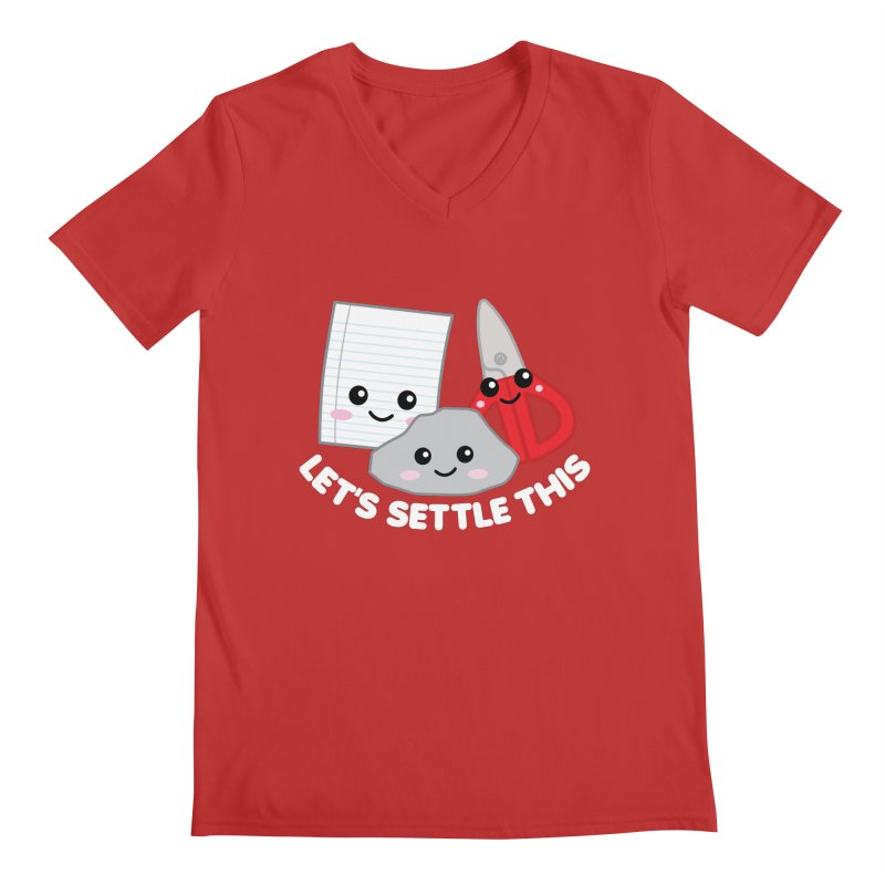 Let's Settle This Men's Regular V-Neck by Detour Shirt's Artist Shop