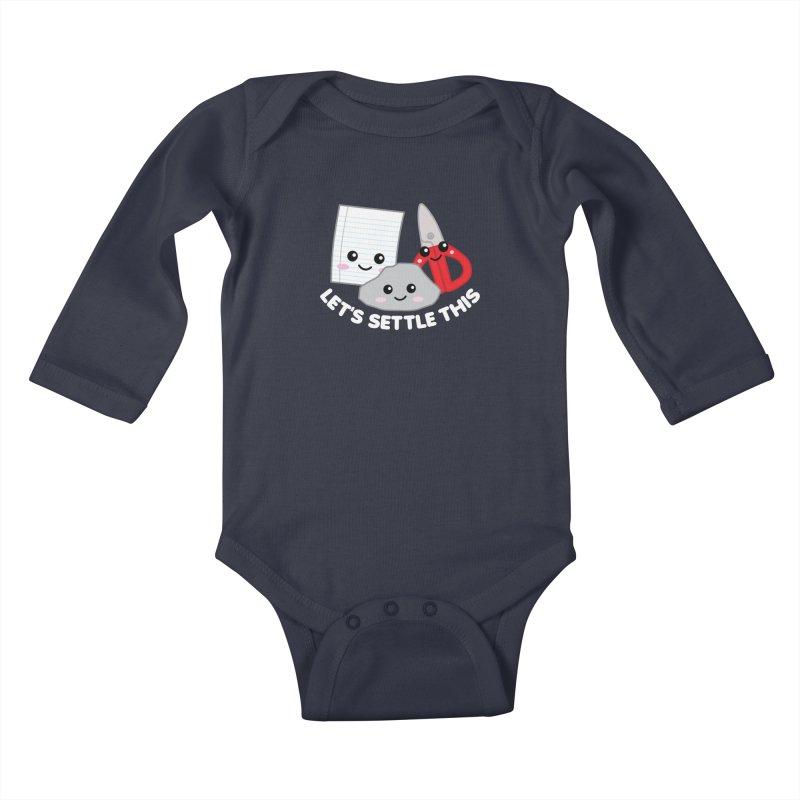 Let's Settle This Kids Baby Longsleeve Bodysuit by Detour Shirt's Artist Shop