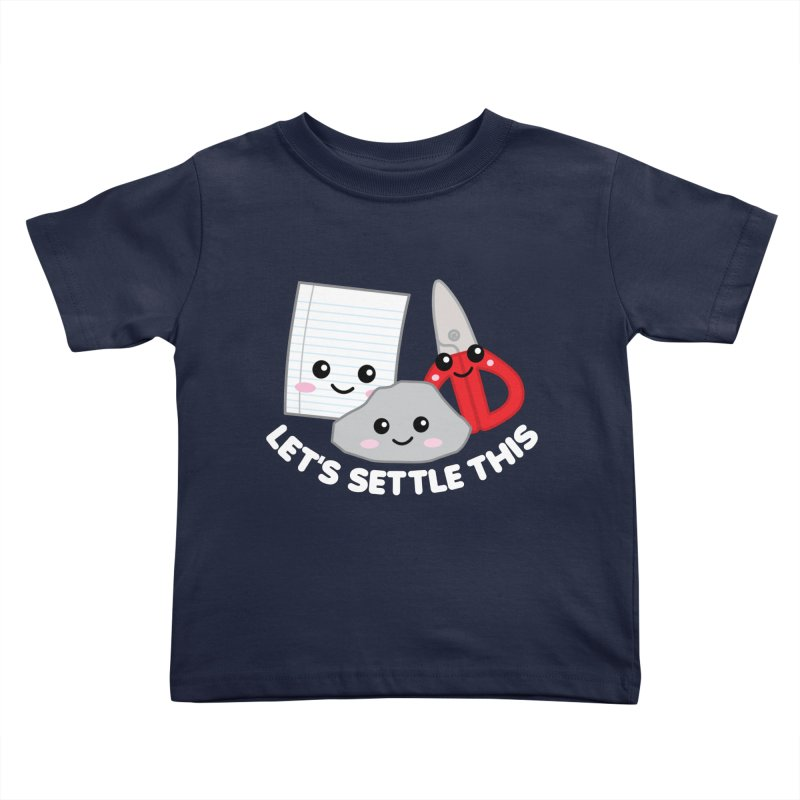 Let's Settle This Kids Toddler T-Shirt by Detour Shirt's Artist Shop