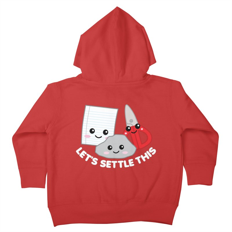 Let's Settle This Kids Toddler Zip-Up Hoody by Detour Shirt's Artist Shop
