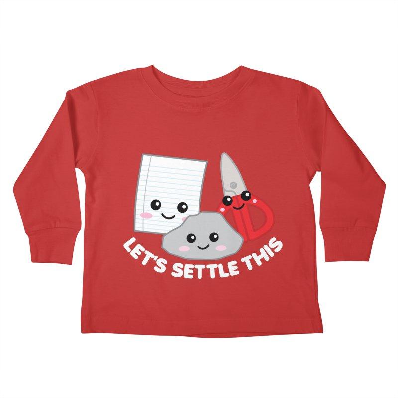 Let's Settle This Kids Toddler Longsleeve T-Shirt by Detour Shirt's Artist Shop