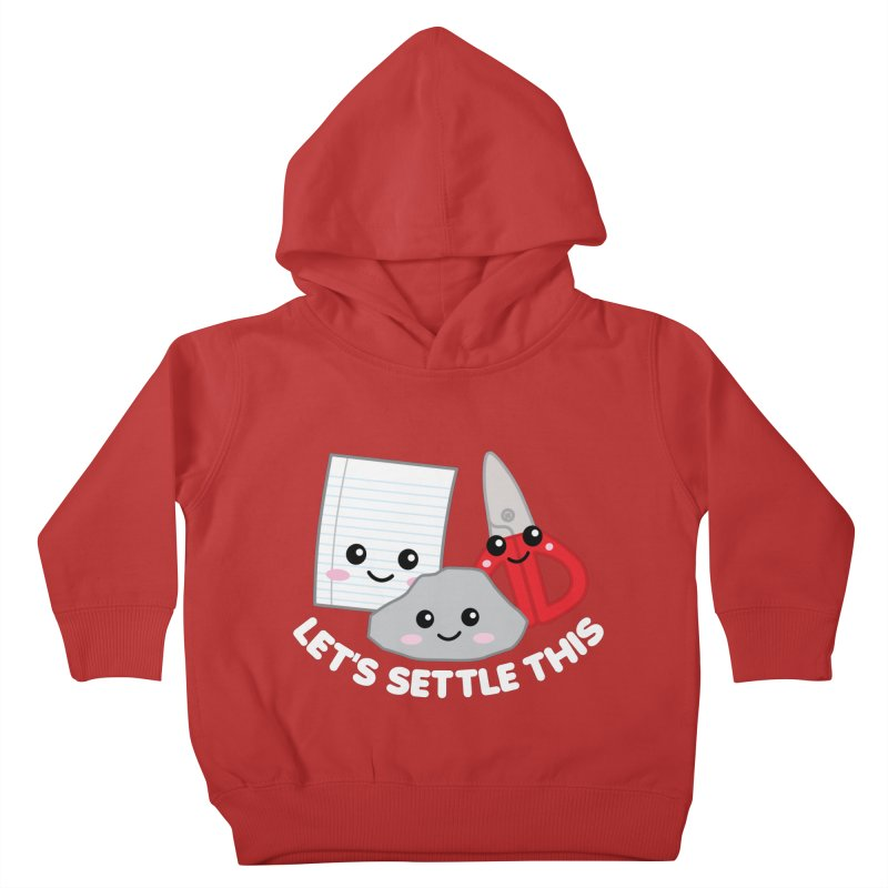 Let's Settle This Kids Toddler Pullover Hoody by Detour Shirt's Artist Shop