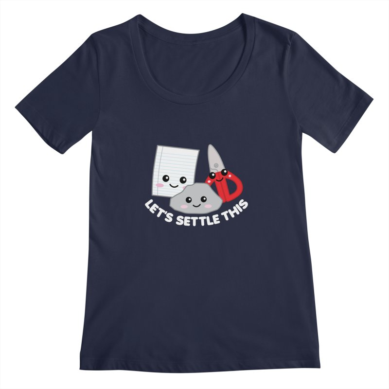 Let's Settle This Women's Regular Scoop Neck by Detour Shirt's Artist Shop
