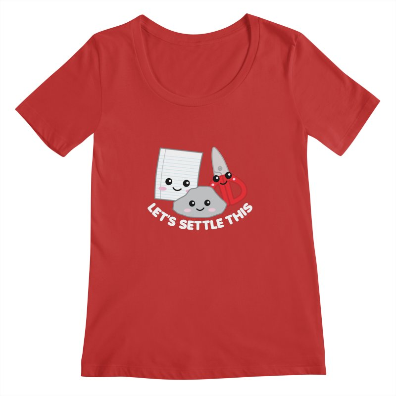 Let's Settle This Women's Regular Scoop Neck by Detour Shirt's Artist Shop