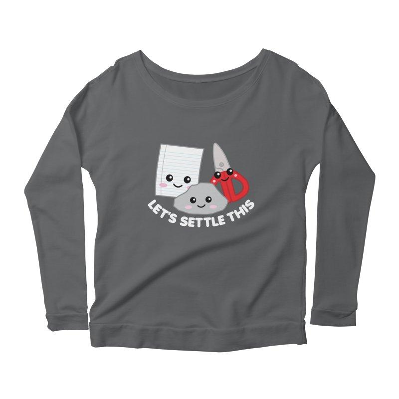 Let's Settle This Women's Scoop Neck Longsleeve T-Shirt by Detour Shirt's Artist Shop