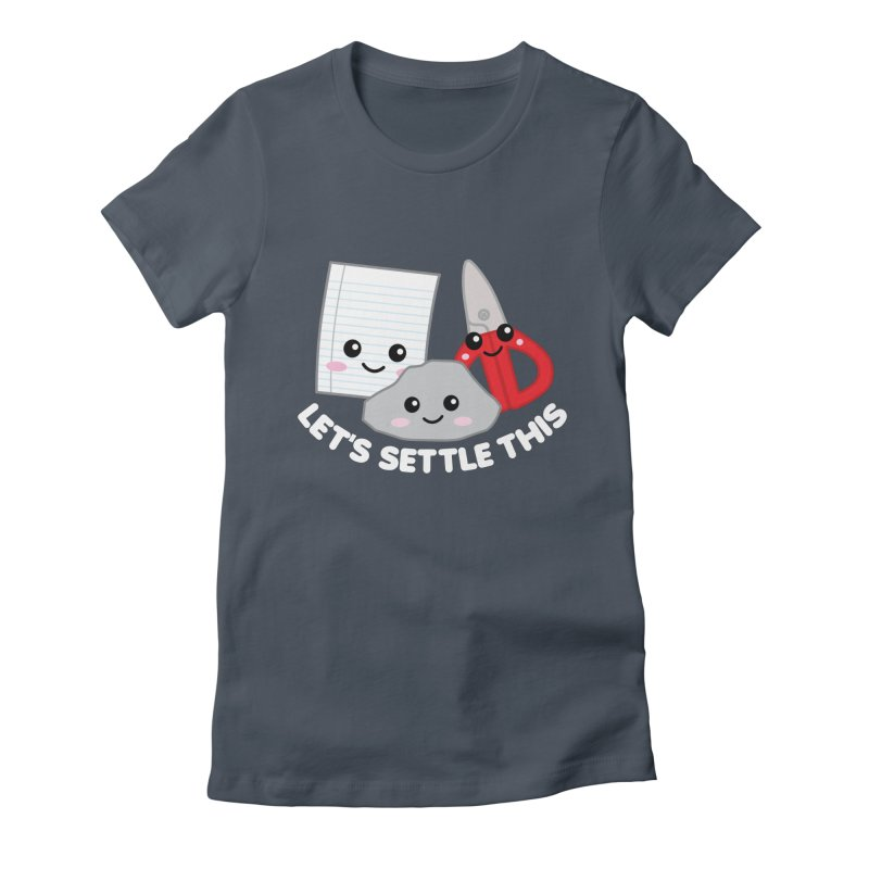 Let's Settle This Women's Fitted T-Shirt by Detour Shirt's Artist Shop