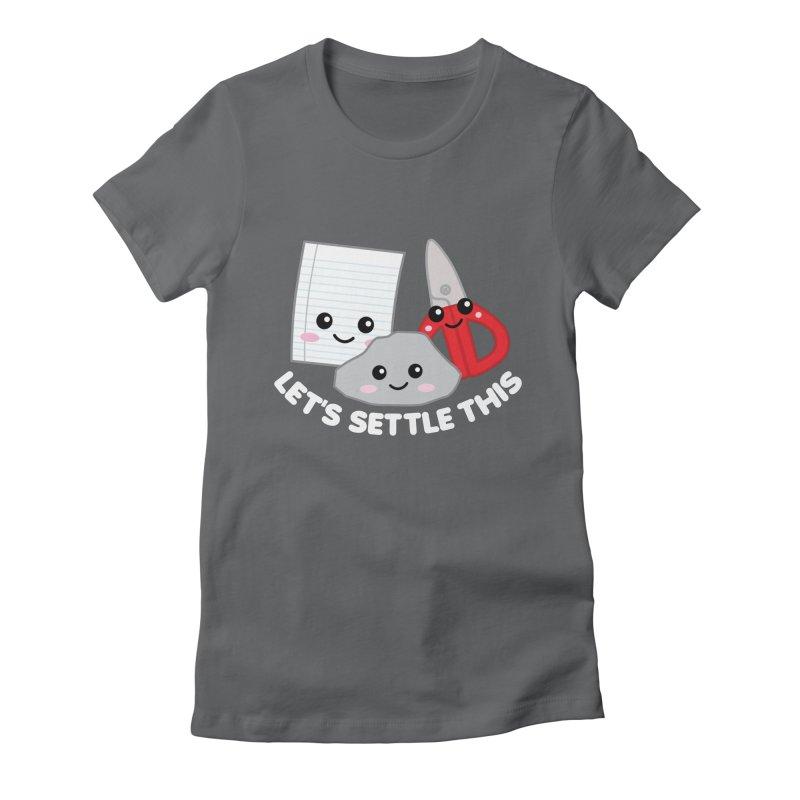 Let's Settle This Women's Fitted T-Shirt by Detour Shirt's Artist Shop