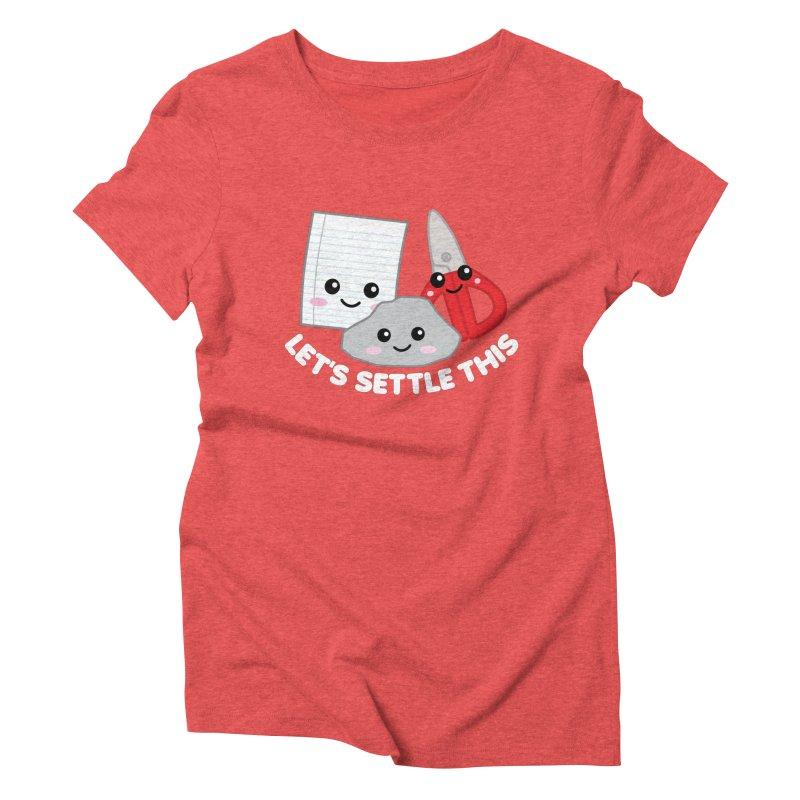 Let's Settle This Women's Triblend T-Shirt by Detour Shirt's Artist Shop