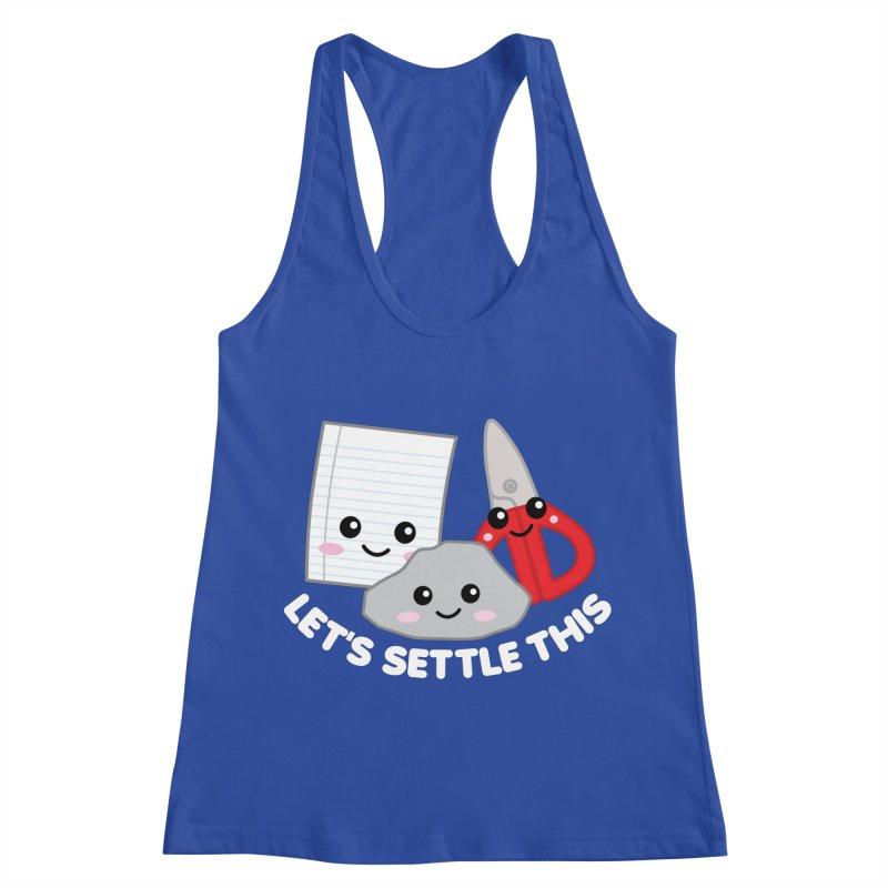 Let's Settle This Women's Racerback Tank by Detour Shirt's Artist Shop