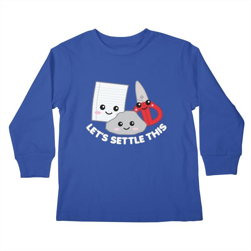 Let's Settle This Kids Longsleeve T-Shirt by Detour Shirt's Artist Shop