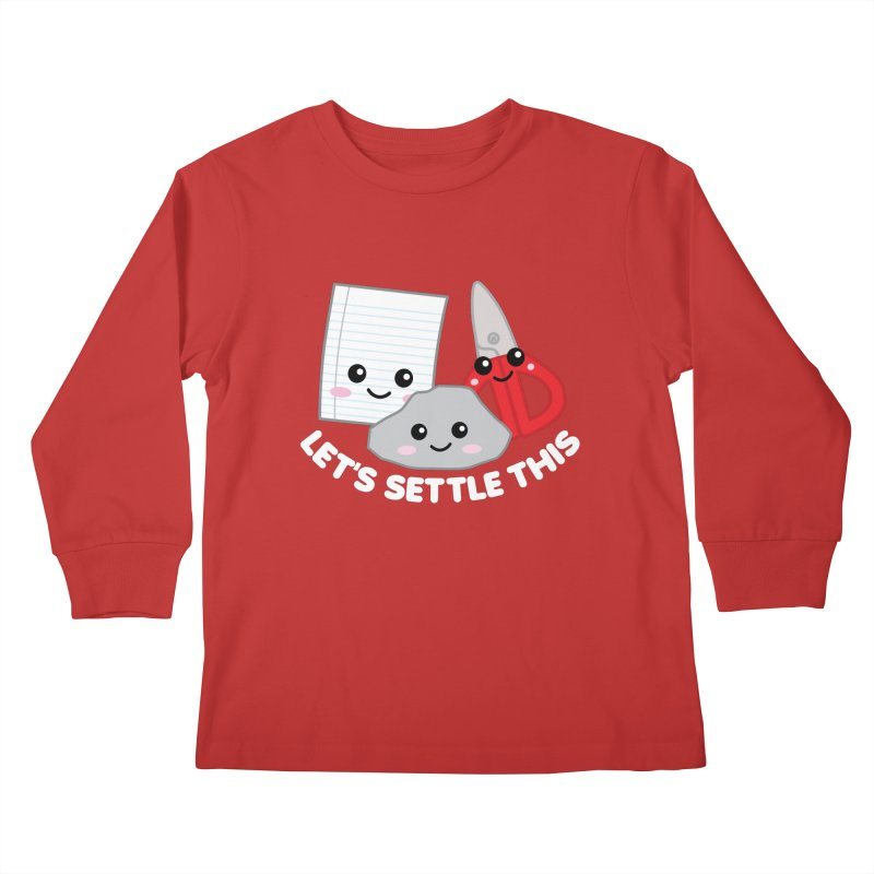 Let's Settle This Kids Longsleeve T-Shirt by Detour Shirt's Artist Shop