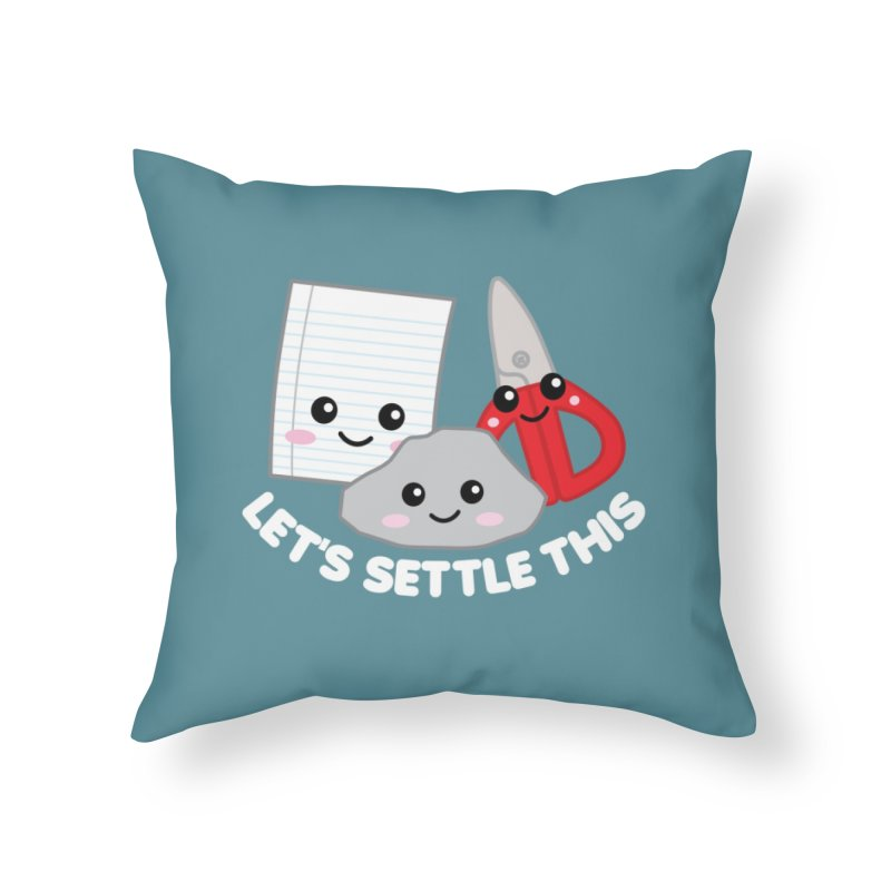 Let's Settle This Home Throw Pillow by Detour Shirt's Artist Shop