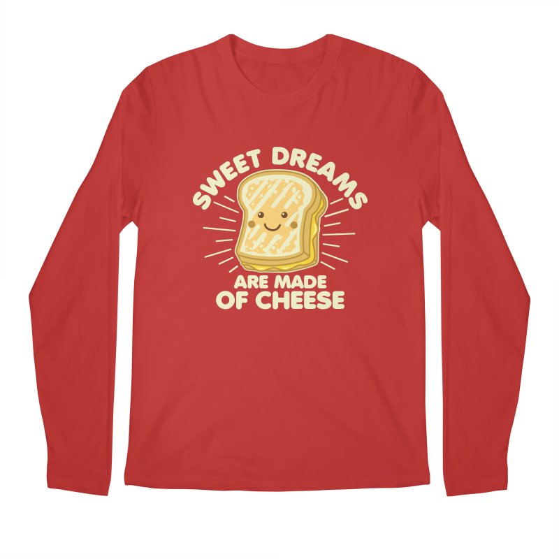 Sweet Dreams Are Made Of Cheese Men's Regular Longsleeve T-Shirt by Detour Shirt's Artist Shop