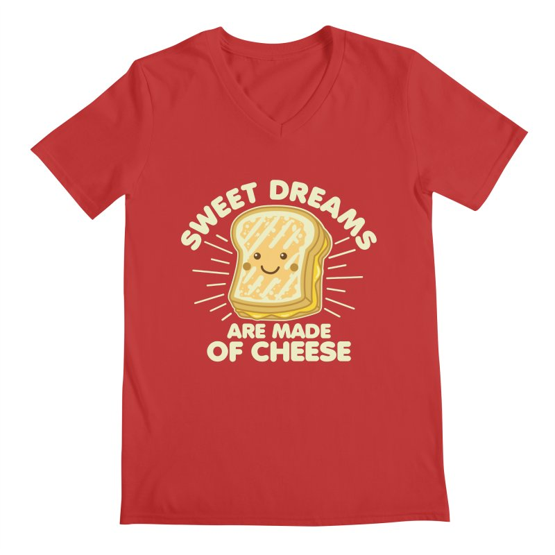 Sweet Dreams Are Made Of Cheese Men's Regular V-Neck by Detour Shirt's Artist Shop