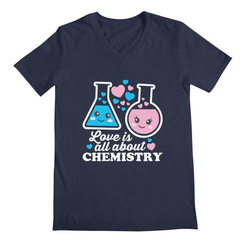 Love Is All About Chemistry Men's Regular V-Neck by Detour Shirt's Artist Shop